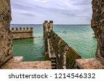 sirmione old town  garda lake ... | Shutterstock . vector #1214546332