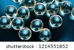 macro  transparent capsules on... | Shutterstock . vector #1214551852