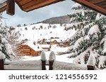 winter in schwarzwald. view of...   Shutterstock . vector #1214556592
