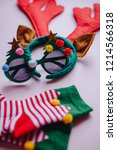 detail of christmas ornaments.... | Shutterstock . vector #1214566318