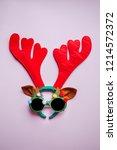 christmas creative concept... | Shutterstock . vector #1214572372