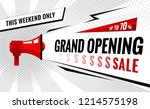 grand opening sale banner. sale ... | Shutterstock .eps vector #1214575198