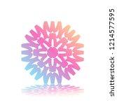round gradient ornament mandala ... | Shutterstock .eps vector #1214577595