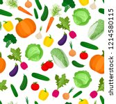 seamless pattern with colorful... | Shutterstock . vector #1214580115