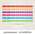 a set of colorful tags for... | Shutterstock .eps vector #121458916