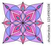 vector illustration of mandala...   Shutterstock .eps vector #1214590108