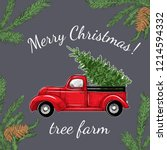 Card With A Christmas Truck...