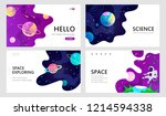 set of web banners templates.... | Shutterstock .eps vector #1214594338