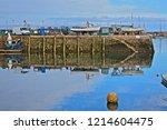 brixham  devon   england   10... | Shutterstock . vector #1214604475