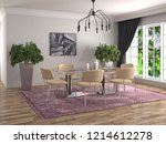 interior dining area. 3d... | Shutterstock . vector #1214612278