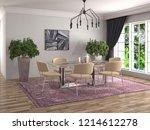 interior dining area. 3d... | Shutterstock . vector #1214612278