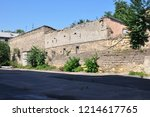 old destroyed stone house on... | Shutterstock . vector #1214617765