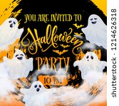 halloween party invitation... | Shutterstock .eps vector #1214626318