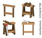 sawhorses for carpenters and... | Shutterstock .eps vector #1214626738
