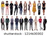 group of 19 different people | Shutterstock . vector #1214630302
