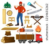 timber vector lumberman... | Shutterstock .eps vector #1214631262