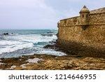 cadiz fortress sea front  spain | Shutterstock . vector #1214646955