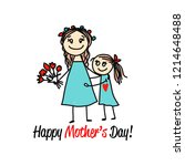 happy mother's day. greeting... | Shutterstock .eps vector #1214648488