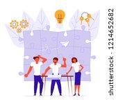 workflow management concept in... | Shutterstock . vector #1214652682