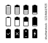 battery charge with white color ... | Shutterstock .eps vector #1214661925