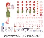 female clerk character creation ... | Shutterstock .eps vector #1214666788