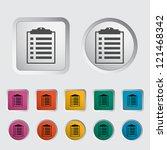 clipboard icon. vector...   Shutterstock .eps vector #121468342