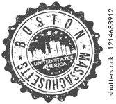 boston massachusetts travel... | Shutterstock .eps vector #1214683912