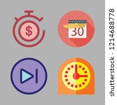 time icon set. vector set about ... | Shutterstock .eps vector #1214688778