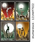 set of retro posters from the...   Shutterstock .eps vector #1214697022