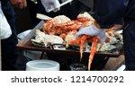 tsukiji fish market in tokyo | Shutterstock . vector #1214700292