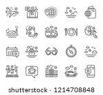 travel line icons. set of... | Shutterstock .eps vector #1214708848