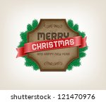vintage vector label   banner... | Shutterstock .eps vector #121470976