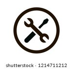 screwdriver and wrench crossed... | Shutterstock .eps vector #1214711212