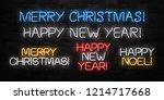 vector set of realistic... | Shutterstock .eps vector #1214717668