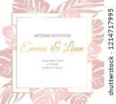 wedding marriage event... | Shutterstock .eps vector #1214717995