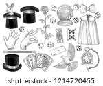 magician equipment collection... | Shutterstock .eps vector #1214720455