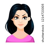 face expression of beautiful... | Shutterstock .eps vector #1214723305