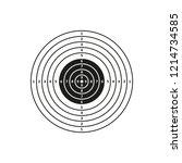 air gun competition. target.... | Shutterstock .eps vector #1214734585