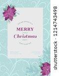 floral vintage invitation card... | Shutterstock .eps vector #1214743498