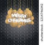 2019 merry christmas seasonal... | Shutterstock .eps vector #1214746342