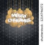 2019 merry christmas seasonal... | Shutterstock .eps vector #1214746372