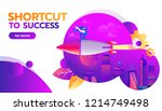 business competition concept.... | Shutterstock .eps vector #1214749498