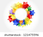 bright colorful stars | Shutterstock .eps vector #121475596