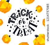 trick or treat vector... | Shutterstock .eps vector #1214757085