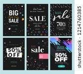 black friday sale. vector... | Shutterstock .eps vector #1214760385