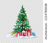 vector spruce christmas tree... | Shutterstock .eps vector #1214783038