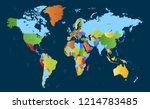 world map vector | Shutterstock .eps vector #1214783485