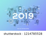 infographic concept  2019  ... | Shutterstock .eps vector #1214785528