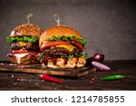close up of home made tasty... | Shutterstock . vector #1214785855