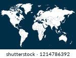 color world map vector | Shutterstock .eps vector #1214786392